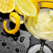 Natural lemonade in cocktail glass - Stock Photo