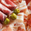 Prosciutto and bacon - Stock Photo