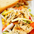 Royalty-Free Stock Photo: Delicious chicken salad with toasted bread