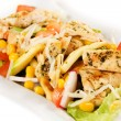 Delicious chicken and vegetable salad - Foto Stock