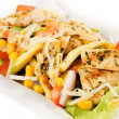 Delicious chicken and vegetable salad - 图库照片