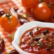 Tomato and chili pepper sauce — Stock Photo