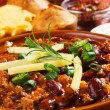 Mexican chili beans - Stock Photo