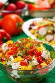 Delicious cheese salad — Stock Photo