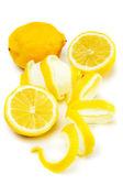 Lemon fruit isolated on white — Stock Photo