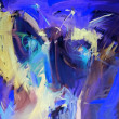Foto Stock: Blue abstract paintings