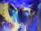 Blue abstract paintings — Stockfoto