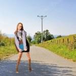 Businesswoman on road — Stock Photo #3288793