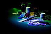 Poker gear light impression — Stock Photo