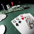 Stock fotografie: Poker gear fisheye look