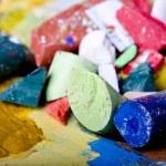Broken pastels — Stock Photo