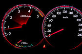 Dashboard gauges — Stock Photo