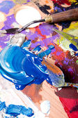 Pintura abstrata — Foto Stock