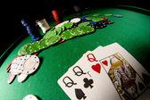 Sguardo fisheye di poker gear — Foto Stock