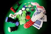 Poker gear fisheye look — Stock Photo