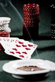 Poker gear vintage — Stock Photo