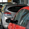 New cars in showroom — Stock Photo #3033934