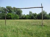 Деревня футбол — Стоковое фото