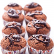 Double chocolate muffins — Stock Photo #3915387