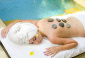 The young beautiful woman to Spa — Stock Photo