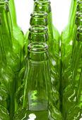 Пустые стеклянные бутылки — Стоковое фото