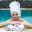 Young beautiful woman to Spa procedures — Stock Photo #3084044