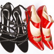 Stock Photo: Female fashionable new shoes