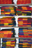 Mexico.Souvenirs.Pile of bright coverlet — Stock Photo
