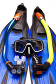 Flippers, mask, tubes for Snorkeling — Stock Photo