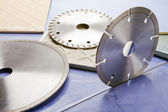 Diamond discs for cutting of tile — Foto Stock