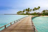 Island in ocean, Maldives — Stock Photo