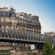 Paris. Bridge before building — Stock Photo