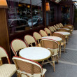 Paris. Tables in street café — Stock Photo