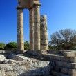 Greece, Rhodes, Acropolis, temple ruins - Stock Photo