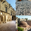 Greece, Rhodes, Old town and famous greek mosaic pebble - Stock Photo