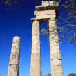 Greece, Rhodes, Acropolis, temple ruins - ストック写真