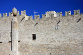 Greece, Rhodes.Wall of ancient city — Stock Photo