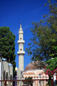 Greece, Rhodes. mosque in the distance — Zdjęcie stockowe