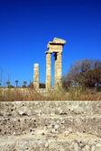 ギリシャ, ロードス アクロポリス、寺院遺跡 — ストック写真