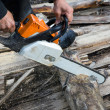 Chain saw - Stock Photo