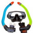 Stockfoto: Tube for diving (snorkel) and mask