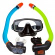 图库照片: Tube for diving (snorkel) and mask