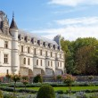 Chateau de Chenonceau.castle of a valley of the river Loire. France. - Stock Photo