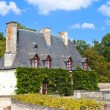 Chateau de Chenonceau.house of the gardener in castle park. Valley of the r - Stock Photo