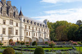Chateau de Chenonceau.castle of a valley of the river Loire. France. — Stock Photo