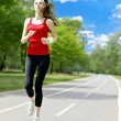 Running woman — Stock Photo #3709589