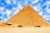Pyramids in Egypt — Stock Photo