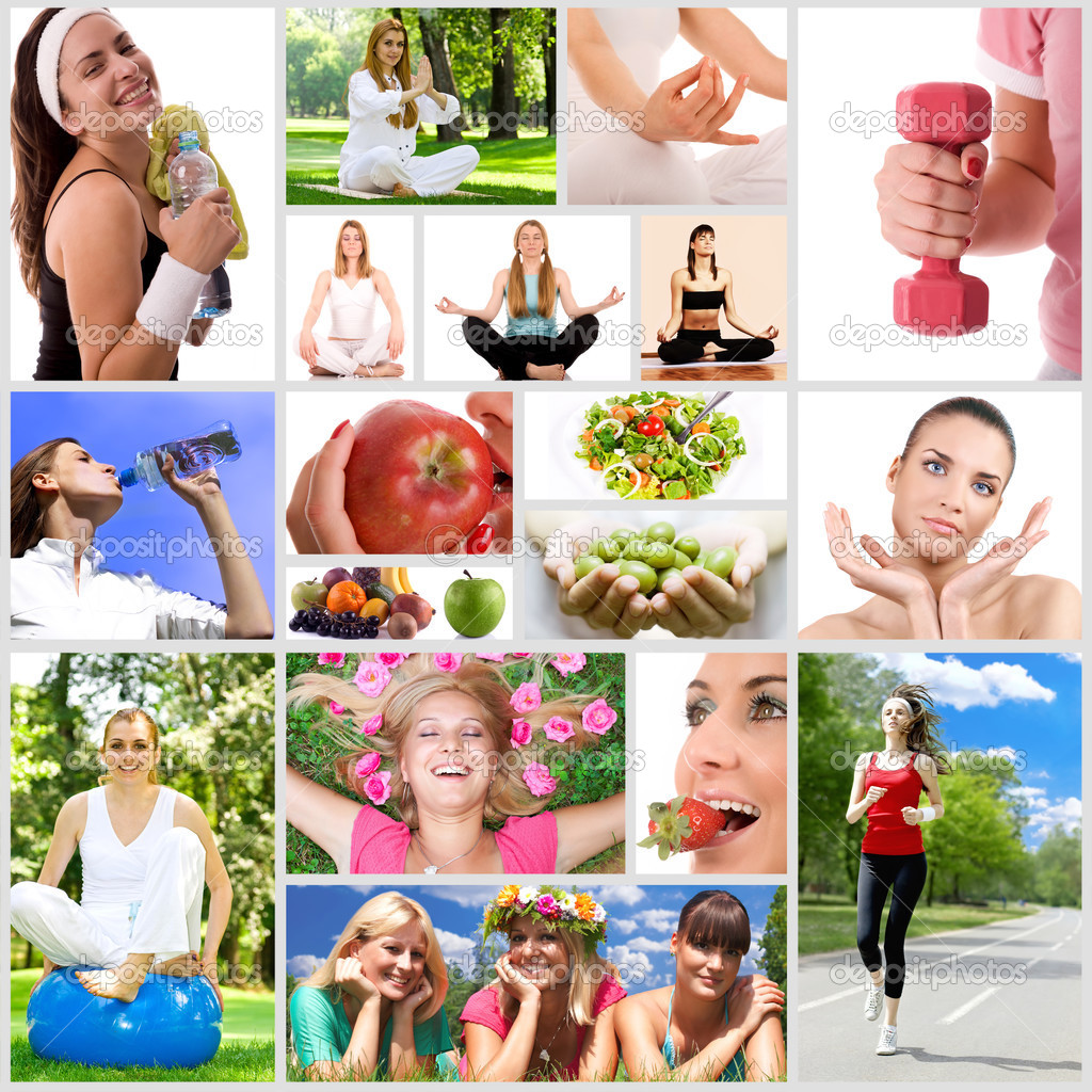Healthy lifestyle collage.  Stock Photo #3827984