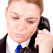 Businesswoman speaking by phone — Stock Photo #3872861