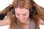 Mujer música — Foto de Stock